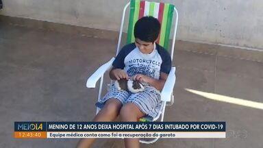 Menino de 12 anos deixa hospital após 7 dias intubado com Covid-19 - Equipe médica conta como foi a recuperação do garoto.
