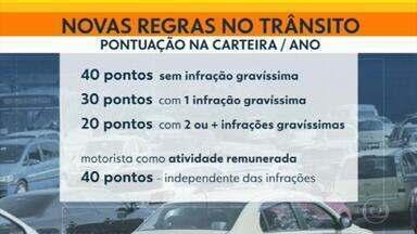 Novas regras do Código de Trânsito Brasileiro começam a valer nesta segunda-feira - Tem mudança na validade da carteira e na contagem de pontos pelas multas.