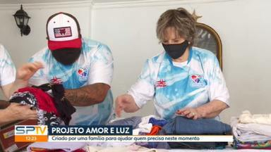 Projeto Amor e Luz arrecada e distribui doações em São Paulo - Dona Rosalina começou o trabalho há 39 anos e hoje alivia a situação de quem sofre com a pandemia