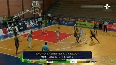 Bauru Basket perde jogo contra Mogi pelo NBB neste fim de semana - O time do Bauru Basket perdeu o jogo contra o Mogi pelo NBB neste fim de semana.