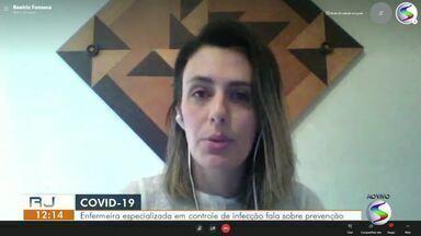 Enfermeira especializada em controle de infecção fala sobre prevenção da Covid-19 - Ela destacou a importância de utilizar a máscara de maneira correta, manter o distanciamento e se higienizar.