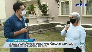 Leitos públicos de UTI estão com 100% de ocupação em Atibaia - Lucas Rangel atualiza os números da pandemia em Atibaia.