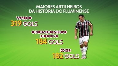 Fred está perto de virar segundo maior goleador da história do Fluminense - Fred está perto de virar segundo maior goleador da história do Fluminense