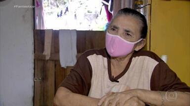 Mulher de 72 anos fica sete dias perdida na mata, comendo capim e bebendo água da chuva - Uma semana após ser resgatada, Dona Rita precisou ficar 12 dias internada por causa da Covid.