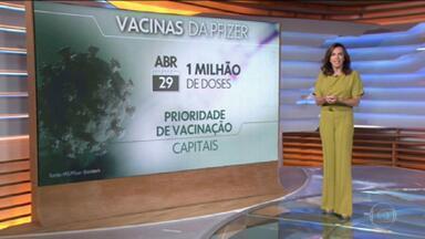 Primeiro lote de vacinas da Pfizer-BioNTech chegará ao Brasil nesta quinta-feira - A orientação do Ministério da Saúde é priorizar a vacinação nas capitais, por causa da refrigeração especial exigida pelo imunizante contra o coronavírus.