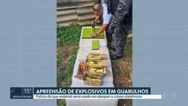 A polícia descobriu um depósito de explosivos em Guarulhos - Segundo a investigação, artefato seria usado para o ataque a caixas eletrônicos.