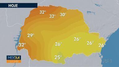 Semana começa com tempo seco na mair parte do estado - As temperaturas também ficam elevadas. Em algumas regiões chega a 32°