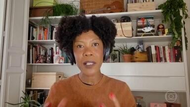 """Programa de 03/05/2021 - Em 2012, a artista plástica Angélica Dass passou a investigar os tons de pele de voluntários, criando um projeto fotográfico que acabaria ganhando o mundo, o """"Humanae"""". De lá para cá, ela registrou mais de quatro mil pessoas em 36 cidades. Acompanhada da cineasta (e sua amiga) Sabrina Fidalgo, ela é a entrevistada de Pedro Bial"""