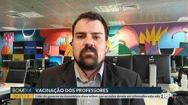Governo do Paraná deve antecipar vacinação dos professores