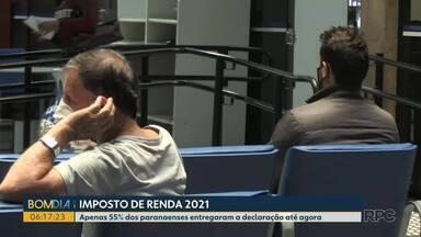 Mais de um milhão de paranaenses ainda não entregaram a declaração do Imposto de Renda - Apenas 55% dos paranaenses entregaram a declaração até agora.