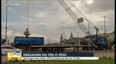 Operação quer retirar 100 toneladas de lixo do Ver-o-Peso - Operação quer retirar 100 toneladas de lixo do Ver-o-Peso