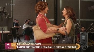 Fátima Bernardes relembra participação em filme de Paulo Gustavo - Apresentadora participou de 'Minha Mãe é Uma Peça 2', em que o humorista interpretava Dona Hermínia, seu personagem mais conhecido