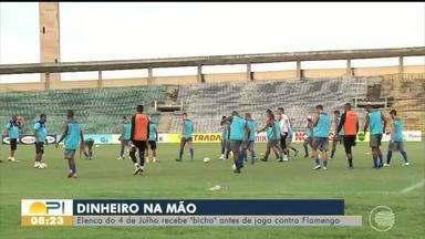 Jogadores do 4 de Julho recebem gratificação por classificação na Copa do Brasil - Jogadores do 4 de Julho recebem gratificação por classificação na Copa do Brasil