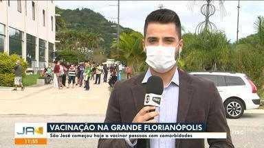 Grande Florianópolis vacina idosos e pessoas com comorbidades contra Covid-19 - Grande Florianópolis vacina idosos e pessoas com comorbidades contra Covid-19