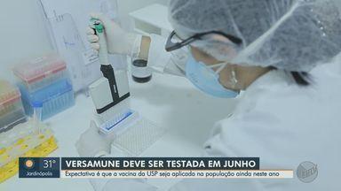 Candidata à vacina brasileira, Versamune deve ser testada em junho - Diretora executiva da Farmacore Helena Faccioli fala sobre o desenvolvimento do imunizante em Ribeirão Preto.