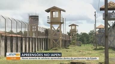Penitenciária do Amapá tem alta na apreensão de celulares no 1º trimestre de 2021 - Alta chegou a quase 300% na captura de aparelhos nas celas, além de outros itens como carregadores e chips.