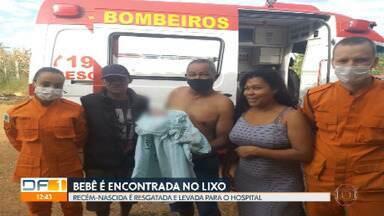 Bebê é encontrado no lixo no Sol Nascente - A recém-nascida foi levada para o hospital de Ceilândia.
