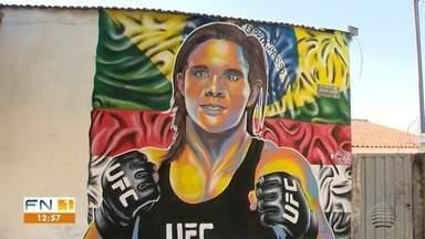 Ariane Sorriso é homenageada no bairro onde cresceu com grafite - Produção é do artista João Célio.