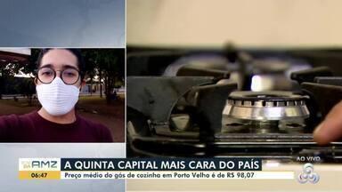 Porto Velho é a quinta capital do país com o gás mais caro - Dados são da Agência Nacional de Petróleo, gás natural e biocombustíveis.