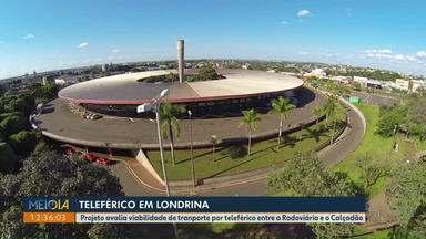 Projeto avalia viabilidade de transporte por teleférico em Londrina - Segundo o projeto, o teleférico seria instalado entre a Rodoviária e o Calçadão.