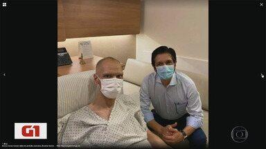 Prefeito licenciado Bruno Covas tem 'discreto sangramento' no esôfago - Ele foi submetido à radioterapia para tratar.