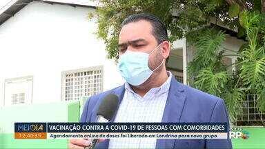 Londrina inicia agendamento de vacinação contra Covid-19 em pessoas com comorbidades - Agendamento online será aberto para 542 pessoas nesta sexta (7), enquanto 339 pacientes serão vacinados em clínicas de hemodiálise.