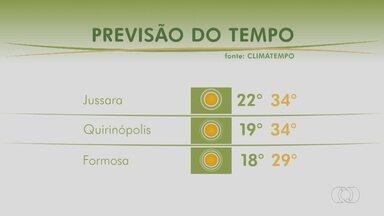 Previsão do tempo para essa semana em Goiás - Mês de maio deve continuar com baixo volume de chuva na maior parte do País