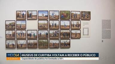 Museus de Curitiba voltam a receber público - Capacidade de público foi limitada a 50%