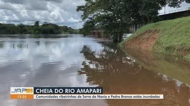 Nível do Rio Amapari permanece em alta e atingindo comunidades ribeirinhas no Amapá - Nível do Rio Amapari permanece em alta e atingindo comunidades ribeirinhas no Amapá
