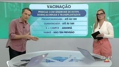 Vacina contra Covid em São José, Taubaté, Guará e Pinda nesta segunda - Veja como será o esquema de vacinação nas cidades