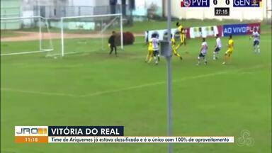 Confira os destaques do Globo Esporte no JRO1 - Rodadas do Campeonato Rondoniense e os resultados dos Estaduais.