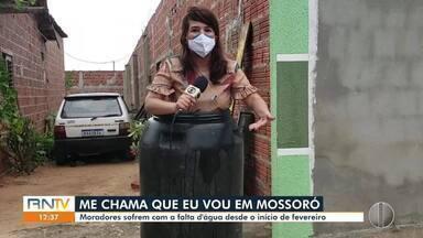 Moradores do Bairro Planalto, em Mossoró, sofrem com falta de água - Moradores do Bairro Planalto, em Mossoró, sofrem com falta de água