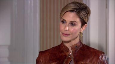 Luísa ameaça e diz para Marcela se afastar de Edgar - Marcela fica chocada com a atitude da sócia e amante de Edgar