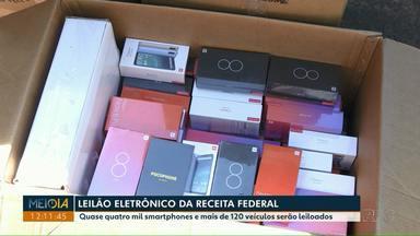 Receita Federal faz leilão de mercadorias apreendidas - Quase quatro mil smartphones e mais de 120 veículos serão leiloados.