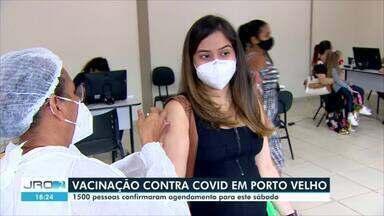 Vacinação contra covid-19 em Porto Velho - Expectativa era vacinar mais de 1500 pessoas na capital.