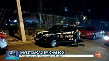 Polícia ouve suspeito de atacar creche em Saudades - Polícia ouve suspeito de atacar creche em Saudades