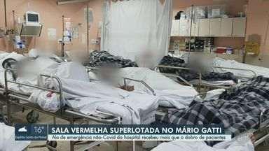 Hospital Mário Gatti tem superlotação da sala vermelha com pacientes não Covid - Hospital de Campinas vai começar a reprogramar leitos que eram exclusivos de Covid para outras doenças.