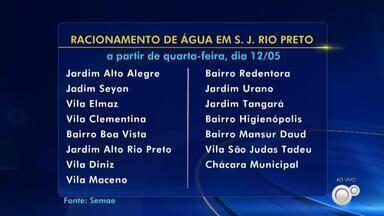 Racionamento de água ocorre a partir de quarta-feira em bairros de Rio Preto - A partir desta quarta-feira (12), o Semae – Serviço Municipal Autônomo de Água e Esgoto de Rio Preto inicia um racionamento de águas em 15 bairros abastecidos pela Estação de Tratamento de Água.