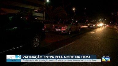 Confira a vacinação contra a Covid-19 no drive-thru da UFMA - Ao vivo, o repórter Werton Araújo deu mais informações.
