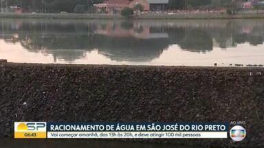 Moradores de São José do Rio Preto, no interior de SP, vão enfrentar racionamento d'água - Racionamento começa amanhã, das 13h às 20h, e deve atingir 100 mil pessoas.