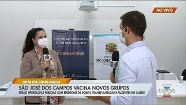 São José vacina pessoas com síndrome de down, transplantados e pacientes em diálise - Veja como será vacinação do novo público.