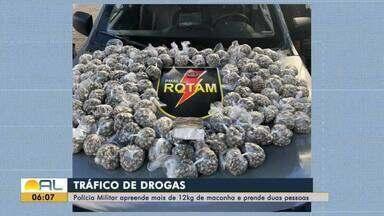 Casal é preso com 12 kg de maconha - Droga estava pesada e dividida em dezenas de sacos plásticos.