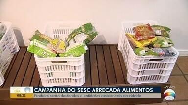Campanha arrecada alimentos não perecíveis em Presidente Prudente - Doações podem ser levadas no Sesc Thermas.