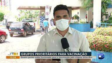 Quatro pontos foram montados em Santarém para vacinar pessoas contra a Covid-19 - Acompanhe a movimentação registrada na terça-feira, 11.