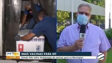 Secretário Estadual de Saúde fala sobre a distribuição de vacinas contra a covid-19 - Secretário Estadual de Saúde fala sobre a distribuição de vacinas contra a covid-19.