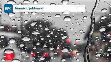 Telespectadores enviam imagens da chuva - Participe do Meio-Dia Paraná pelo aplicativo Você na RPC.
