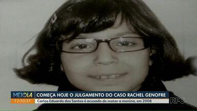 Começa hoje o julgamento do caso Rachel Genofre - Carlos Eduardo dos Santos é acusado de matar a menina em 2008.