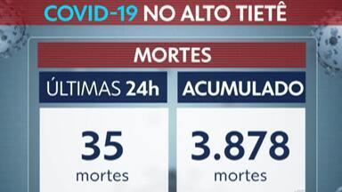 Destaque G1: Média móvel aponta queda de 22% nas mortes por Covid-19 em duas semanas - Há 14 dias, média diária estava em 27 óbitos, enquanto nesta quinta-feira ficou em 21.