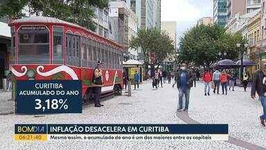 Inflação desacelera em Curitiba - Mesmo assim, o acumulado do ano é um dos maiores entre as capitais.
