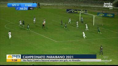 São Paulo Crystal 0 x 0 Nacional de Patos, pela rodada #5 do Campeonato Paraibano - Tricolor e Canário empatam sem gols no Almeidão